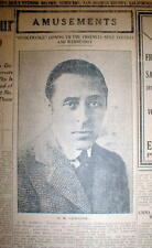 1916 newspaper Movie director D W GRIFFITH pict & review of his film INTOLERENCE
