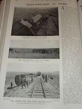 1901 BOER WAR TRAIN WRECKERS DERAILMENT BREAKDOWN GANG