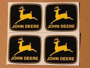 4 JOHN DEERE 2 inch 2-legged Yellow Deer DECALS Tractor  J1992