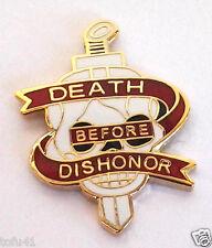 DEATH BEFORE DISHONOR Military Veteran Hat Pin 15283 HO
