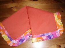 Baby bedding Handmade Orange/Multi Frilled Polyester Cotton sheet - mose/crib.