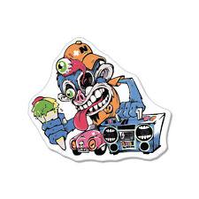 "Monkey Ice Cream Weird car bumper sticker decal 5"" x 4"""