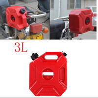 3L Plastic Jerry Cans Gas Container Diesel Fuel Tank Car Bikes Motorcycle w/Lock