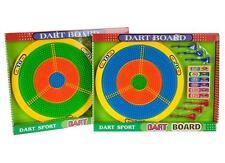 CHILDRENS KIDS PLASTIC SAFETY DART BOARD TARGET DARTBOARD AND 6 DARTS GARDEN TOY