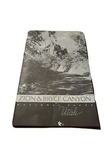 1939 Travel Booklet Zion Bryce Canyon Utah US Dept Int 1930s pamphlet brochure