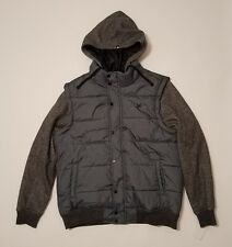 Zoo York Puffer Jacket Hooded Hoodie Smolder Men's Size Large NWT New $100.00