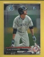 Blake Rutherford RC 2017 1st Bowman Chrome Prospects Rookie Card # BCP121 Sox