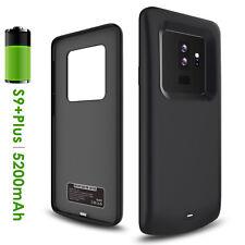 Premium Black External Battery Backup Case Charger Power Bank For Samsung Series