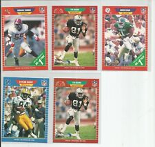 1989 Pro Set Football 5 Card ROOKIE Lot(D.Thomas,Rison,T.Brown,S.Sharpe)