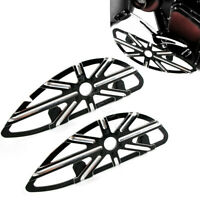 1 Pair Front Driver Motorcycle Floorboard Hollow-Out Black For Harley Touring