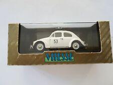 RARE VITESSE VW Beetle Herbie fermé toit ouvrant 1:43 Ltd Edt dans boîte d'origine