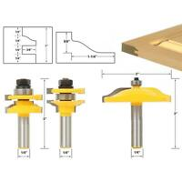 "3pcs/set 1/4"" Shank Router Bit Cabinet Door Milling Cutter Woodworking Tool Kit"