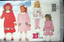 Butterick 4219- 2 Styles Long Sleeve Knit Dress-Top-Leggings Pattern 5-6X Uncut
