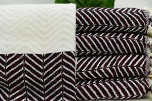 40x70 Beach Towel, Herringbone Towel, Arrow Patterned Turkish Towel, Tkr-Arrw
