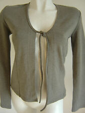 GILET MAILLE JERSEY GRIS MARQUE MORGAN TAILLE 36 / 38 ETAT NEUF
