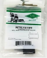 NTE75189 Integrated Circuit DTL Quad Line Receiver RS232C 14 pin DIP (ECG75189)