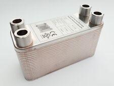 B3-12-40 Edelstahl Plattenwärmetauscher mit 4x 3/4 Zoll Anschlüsse bis 75 KW neu