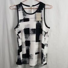 New With Tag Post Mark For Anthropologie Black White Geometric Tank Top M