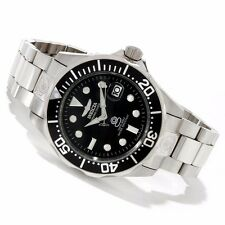 Invicta 47mm Grand Diver 24J Automatic Black Dial Stainless Steel Bracelet Watch