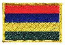 Écusson brodé drapeau ÎLE MAURICE mauricien 5x8cm Thermocollant