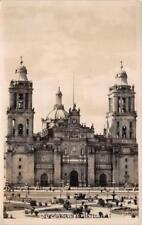 RPPC CATEDRAL DE MEXICO CHURCH CATHEDRAL REAL PHOTO POSTCARD (c. 1940s)