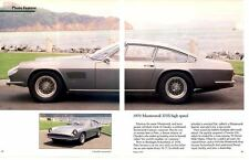1970 MONTEVERDI 375S HIGH SPEED ~ NICE 4-PAGE ARTICLE / PICTORIAL / AD