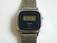 LOVELY LADIES VINTAGE CASIO 210 LF 140 DIGITAL WATCH ~ Adjustable metal strap.