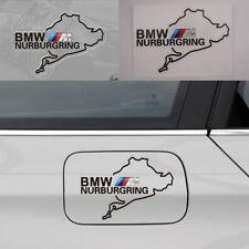 ///M Nurburgring emblem Logo Rectangular Fuel tank cap Decal sticker For BMW