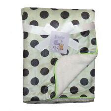 Green Plush Mink Sherpa Fleece Baby Blanket Crib Pram 75 x 100 cm