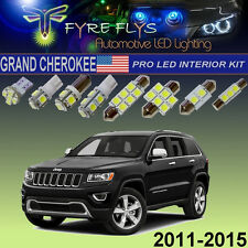 12 Pcs Xenon White LED Interior Lights Package Pro Kit for Jeep Grand Cherokee