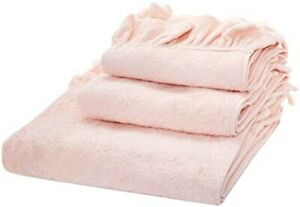 Authentic AGENT PROVOCATEUR Pink Ruffle Pima Cotton Hand Towel BNWT