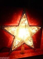 Light Up Star Tree Topper with Silver Tone Edges