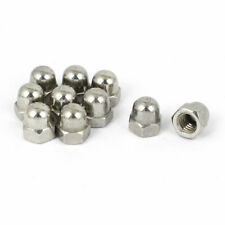 """1/4"""" Thread Dia Dome Head Stainless Steel Cap Acorn Hex Nuts 10pcs"""