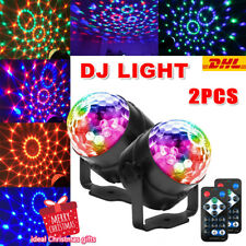 2x LED Discokugel DJ Lichteffekt Xmas Partydekoration Club RGB Bühnenbeleuchtung