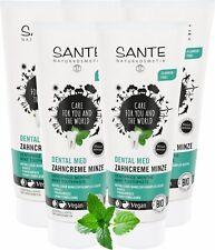 5 x SANTE Dental Med Zahncreme Minze, Ohne Natriumfluorid, Vegan, Bio-Extrakte