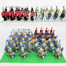 10pcs Knight Warrior Army Kingdom King Soldier Military Figure Lego Minifigure