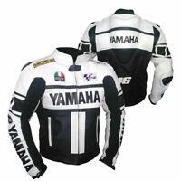 YAMAHA MOTOGP MOTORBIKE MOTORCYCLE COWHIDE LEATHER CE ARMOURED BIKERS JACKET