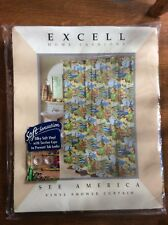 Excell Home Fashions See America Vinyl Shower Curtain