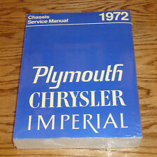 1972 Plymouth Chrysler Imperial Chassis Service Shop Manual 72