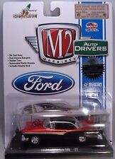 RED AND BLACK 1957 FORD FAIRLANE M2 MACHINE 1:64 SCALE DIECAST METAL MODEL CAR