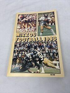 1983 Missouri Tigers Mizzou College Football Press Guide Book Program
