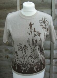 Belee Rouge-Ladies Beige Coloured Jumper With Brown Coloured Pattern Size M