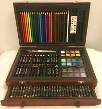 Pre-Owned Art 101 142-Piece Wood Art Set For Drawing and Painting