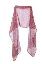 Funky Ruby Red & Black Leopard Print Statement Wrap Scarf (s103)