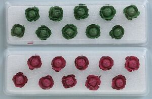 """JTT Scenery Products - Cabbage & Lettuce -- 1/2""""  1.3cm Tall pkg(20) - O"""