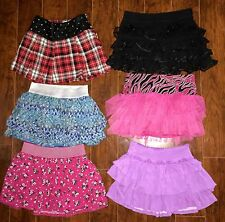 LOT OF GIRLS SKORTS SIZE 10 ALL JUSTICE PRETTY Blue Black Pink Purple Spring