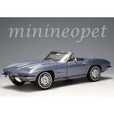 AUTOart 71192 1963 CHEVROLET CORVETTE STING RAY CONVERTIBLE 1/18 SILVER BLUE