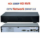 4 Ch HD 1080P Video Recorder NVR CCTV Network ONVIF 2.0 for IP 2MP Camera System