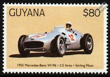 1955 MERCEDES-BENZ W196 (Stirling Moss) F1 GP Racing Car Stamp