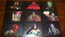 Marvel Heroes and Villains Most Wanted 9 Card Foil Insert Set